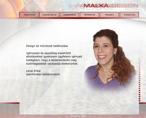 Malka-design honlap screenshot