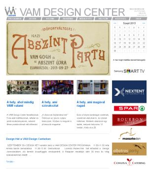 VAM Design honlap screenshot