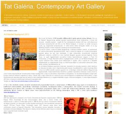 Tat Contemporary Art Gallery honlap screenshot